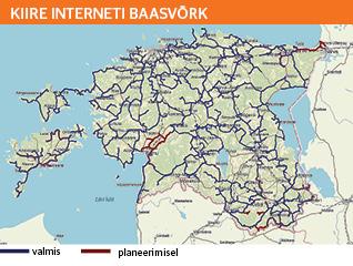 Kiire interneti baasvõrk, Eesti kaart, viimane miil