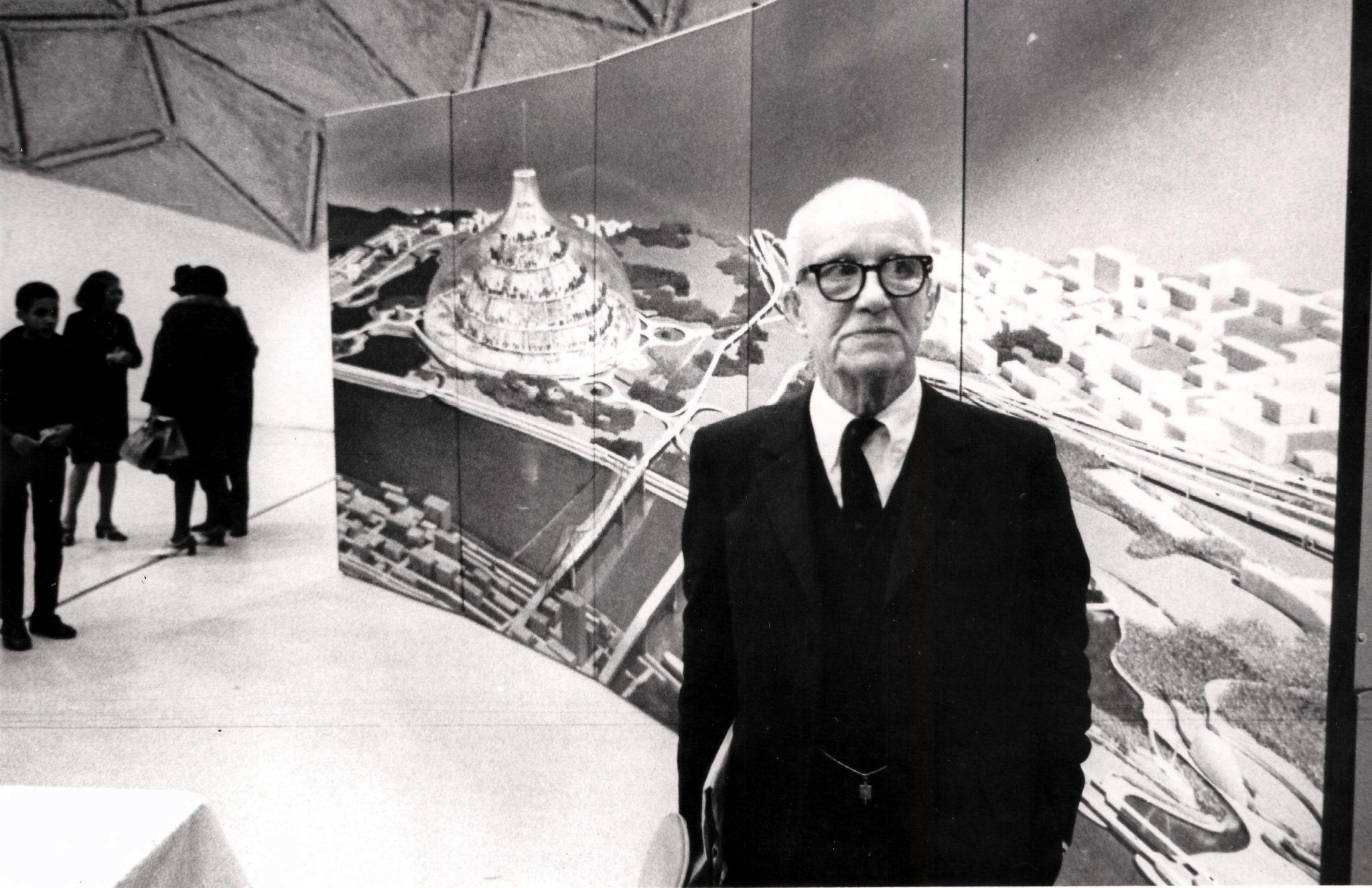 Buckminster Fuller ja Old Man River's City kavand, mis pidanuks asuma East St.Louise lähistel Illinoisi osariigis. Foto: Steve Yelvington
