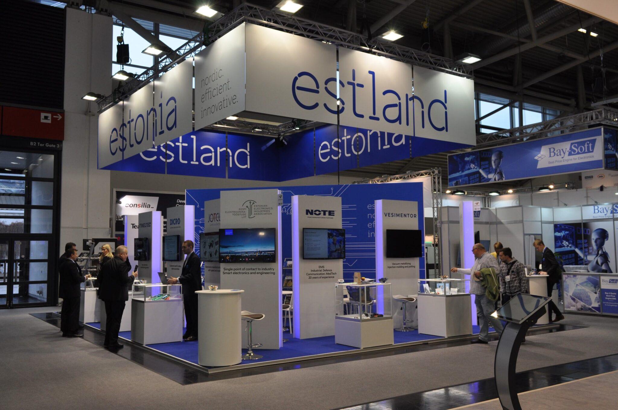 Eesti elektroonikaettevõted on esindatud Saksamaa tööstusmessil Productronica 2019. Foto: Eesti Elektroonikatööstuse Liit
