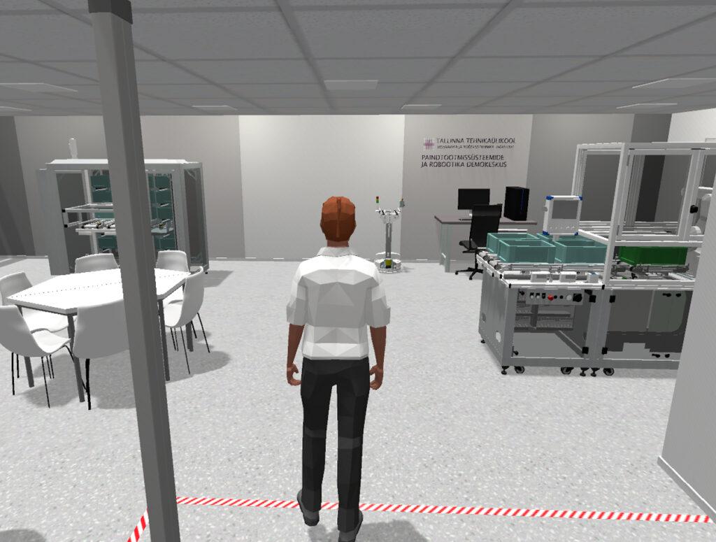Vaade tuleviku tudengist, kui ta siseneb virtuaallaborisse oma avatariga. Sellise toimiva lahenduse väljatöötamine on praegu Tallinna Tehnikaülikoolis käsil.